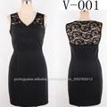 preto com decote em V com rendas em vestidos formais de volta para a primeira comunhão