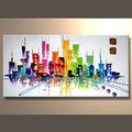 el más reciente de arte abstracto pintura sobre lienzo para la decoración