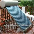 Evacuado del tubo del calentador de agua solar