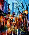 pintados à mão da paisagem pintura a óleo sobre tela