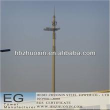 stand alone de telecomunicaciones de acero del poste del mástil