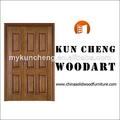Utiliza las puertas exteriores para la venta/sólido de madera de madera de entrada de doble puerta/puerta de madera