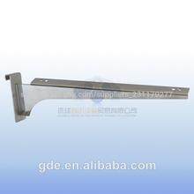 soporte de metal para los estantes de vidrio