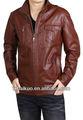2013 vermelho cordeiro mens jaquetas de couro