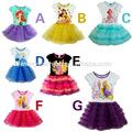2014 nuevos estilos de manga corta de la princesa tutu vestidos para niñas 5 años