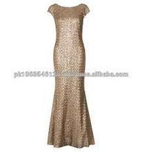 de moda elegante elegante encaje gasa de longitud completa saab elle vestido de noche maxi para las señoras