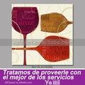 Taça de vinho abstrata arte da lona parede impressão