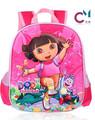 Nouveau design cartoon lightening dora 3d sac d'école sac à dos enfant