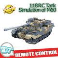 1:18 rc tanque con función de disparo, rc tanque de batalla