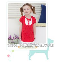 Verano 2014 venta caliente rojo/bebé negro frock niña vestido de lujo para niños
