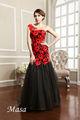 2014 vestido preto e vermelho bordado sereia noite made in china