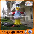 Promoción inflable del pato amarillo modelo, figuras de carácter