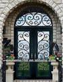 Puerta de hierro/lowes de hierro forjado puerta de seguridad/parrilla de hierro la puerta diseños