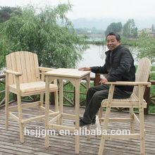 al aire libre de madera mesas de bar y sillasutilizado