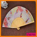 Venta caliente pluma Mujeres bambú plegable Fan Wholesale ZTMZ-F006