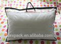 2014 venta caliente!!! Eco ambiente de plástico de pvc con cremallera bolsa de almohada/funda de almohada bolsa