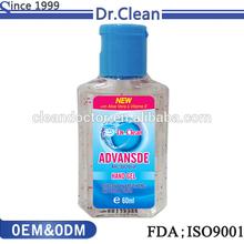 la etiqueta privada de gel desinfectante para manos