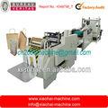 Máquina para fabricar bolsa de papel de fondo cuadrado de alimentación por rollo