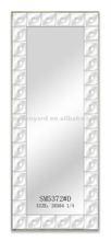 moderno rectángulo de plata colgando de la pared marco del espejo
