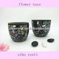 de color iridiscente jardín decoración vaso pequeño macetas de mosaico baratos al por mayor