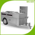 açoinoxidável comercial snacks carrinho de cachorro quente para a venda