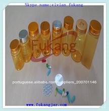grosso amarelo redonda de plástico pet medicina pílula recipientes com tampa