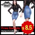 falda de niña de dril de algodón bordado corto los últimos modelos de venta caliente falda de mezclilla 2010-2011