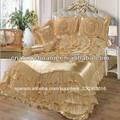 color brillante elegante colchas de satén