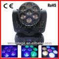 Wledm- 07 nuevo 7 pcs 4 rgbw en 1 12w osram led haz de movimiento de rotación de la cabeza de la lámpara