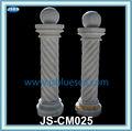 tallada blanco redondo pequeño en espiral de la columna de mármol