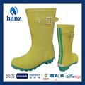 meninas da moda sapatos de chuva bonito amarelo crianças botas de borracha