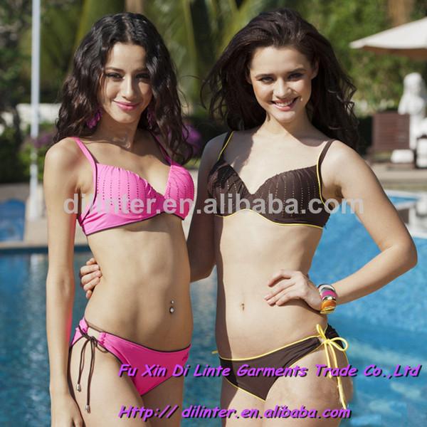 venta al por mayor sexy de acero para mujer bikinis prop