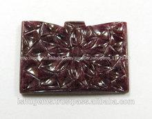 Auténtico rubí tallado de la forma de lujo, precio competitivo de piedras preciosas naturales