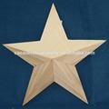 decoración de la estrella de madera