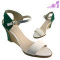2014 nuevos estilos de las mujeres tacones de cuña de la tira del tobillo sandalias