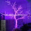 al aire libre acrílico iluminada los árboles de navidad led de color púrpura de magia baratos de los árboles artificiales