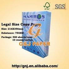 8.5 x13 polegadas tamanho ofício papel de cópia