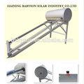 2014 portátiles calentador de agua solar precio de plata con recubrimiento de titanio tubo de vacío