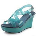 los fabricantes 2014 mujeres sandalias de moda transparente jalea zapatos de cristal