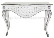 2014 venta caliente baratos blanco de estilo francés de la consola de mesa jhf14-yst10789