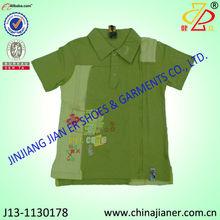 Nuevo estilo 100% de algodón de polo camisetas de cuello de niños niños ropa