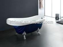 cuarto de baño moderno real de lujo bañera de acrílico interior tina de agua caliente 1 persona tina de agua caliente oval