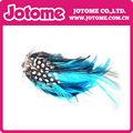 pluma azul hackle cojines