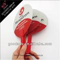 oem pp ventilador de la mano de la promoción de plástico pp fan
