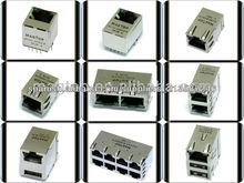 10/100/1000 Base-Tx INTERGRATED magnético del transformador RJ45 Conector con LED y Multi puerto USB
