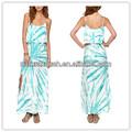 La mujer bonita maxi vestido de volante superior superposición detalle niñascargan patrones( ylq03264)