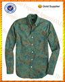 100% batik de algodón estampado de flores al por mayor para hombre camisa de china