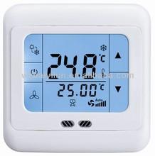 la pantalla táctil digital de la bobina del ventilador del termostato