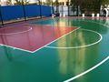 Si-pu cancha de baloncesto elástica de la superficie