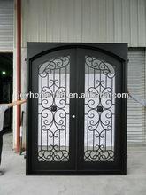 Lowes de hierro forjado puerta de seguridad/parrilla de hierro la puerta diseños/utiliza puerta de hierro forjado puertas